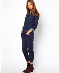 G-Star RAW Blue Denim Jumpsuit