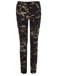 Karen Millen Black Camouflage Jean