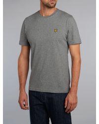 Lyle & Scott - Gray Crew-neck T-shirt for Men - Lyst