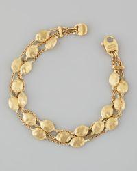 Marco Bicego | Metallic Siviglia 18K Gold 3-Strand Bracelet | Lyst