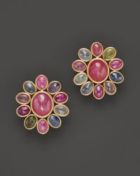 Marco Bicego - Multicolor Siviglia Sapphire 18k Gold Hand Engraved Mixed Sapphire Earrings - Lyst