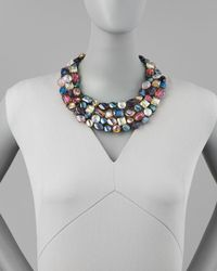 Nakamol - Multicolor Multicrystal Statement Necklace - Lyst