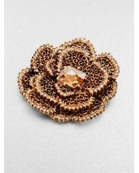 Oscar de la Renta - Flower Brooch - Lyst