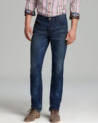 PAIGE Blue Jeans Normandie Slim Straight in Lumberjack for men