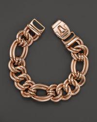 Roberto Coin | Pink 18k Rose Gold Flat Link Bracelet | Lyst