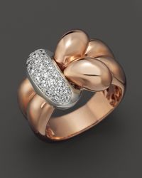 Roberto Coin | Metallic Knot Ring With Diamonds | Lyst