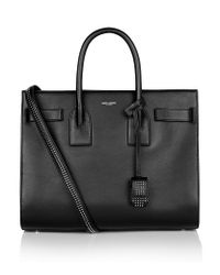 Saint Laurent - Black Small Studded Sac De Jour Bag - Lyst