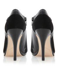 Dune Black Adorn Suede Leather Mix Shoes Boots