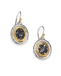 Gurhan - Metallic Diamond Chip Sterling Silver and 24k Yellow Gold Earrings - Lyst