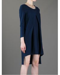 MM6 by Maison Martin Margiela - Blue Loosefit Front Crossed Dress - Lyst