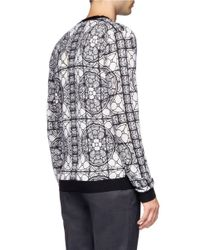 Alexander McQueen - Gray Stained Glass Printed Cardigan for Men - Lyst