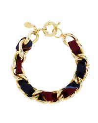 Brooks Brothers - Metallic Ribbon Chain Bracelet - Lyst