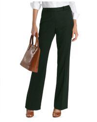 Brooks Brothers | Black Plain-front Caroline Fit Gabardine Trousers | Lyst