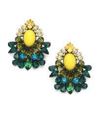 DANNIJO - Green Faceted Cluster Earrings - Lyst