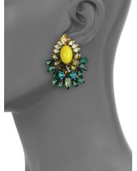 DANNIJO - Green Faceted Cluster Earrings - Lyst