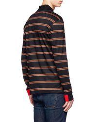 Givenchy Brown Cotton Long-sleeve Polo Shirt for men