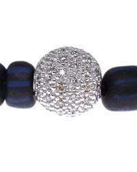 Ruby Kovo | Blue Bead Diamond Bracelet | Lyst
