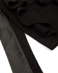 Ted Baker Black Gaeton Leather Trim Wrap