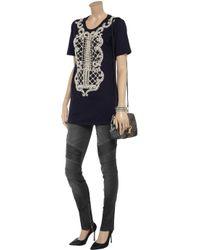 Balmain Gray Lowrise Skinny Jeans