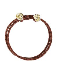 Brooks Brothers | Brown Leather Woven Bracelet | Lyst