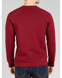 Carhartt Red Chase Crew Neck Jersey Jumper for men