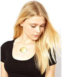 Gorjana - Metallic Large Hale Pendant Necklace - Lyst