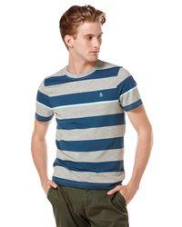 Original Penguin Gray Engineered Stripe T-shirt for men