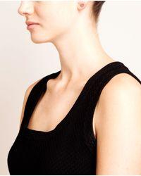 Rosa De La Cruz - White Diamond Heart Stud Earring - Lyst