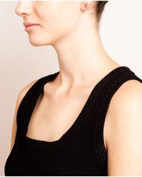 Rosa De La Cruz - White 18k Burnished Gold Diamond Star Earring - Lyst