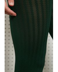 Urban Outfitters Nylon Cable Tights in Green