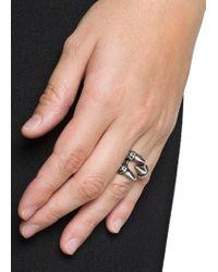 Mango - Metallic Claw Ring - Lyst