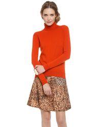 Carven Orange Soft Turtleneck Sweater