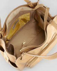 Eric Javits Natural Sheba Satchel Bag Camel