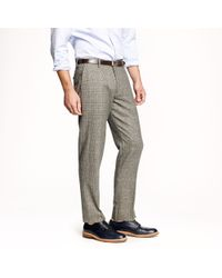 J.Crew Natural Ludlow Slim Suit Pant In Prince Of Wales Glen Plaid English Wool for men