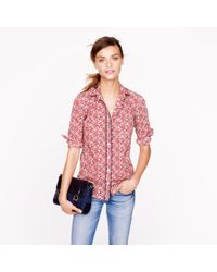 J.Crew Red Liberty Boy Shirt in Betsy Ann Floral
