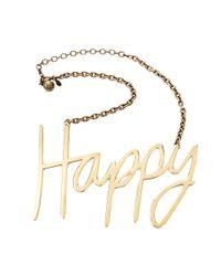 Lanvin | Metallic Happy Necklace | Lyst