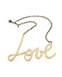 Lanvin Metallic Love Necklace