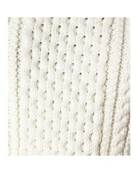 Marc Jacobs White Cable Knit Wool Pullover