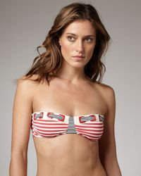 Nanette Lepore | Red Riviera Striped Bandeau Top | Lyst