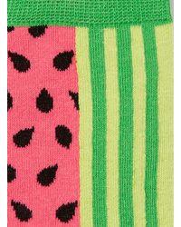 TOPMAN | Green Pink Watermelon Pattern Socks for Men | Lyst