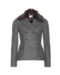 Tory Burch Gray Alexandra Wool Blend Jacket