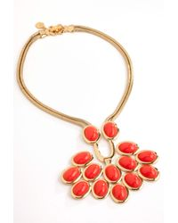 Trina Turk Orange Cabochon Necklace
