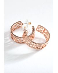 Trina Turk - Pink Brick Hoop Earrings - Lyst