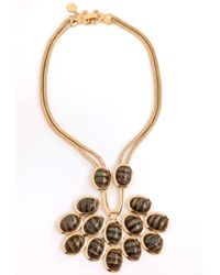 Trina Turk Metallic Cabochon Necklace