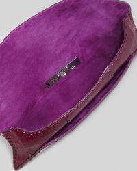 VBH Purple Manila Stretch Ostrich Clutch Bag