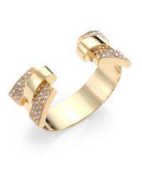 Ca&Lou | Metallic Art Deco Cuff Bracelet | Lyst