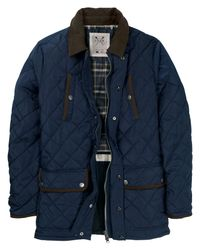 Crew Blue Aintree Quilted Jacket for men