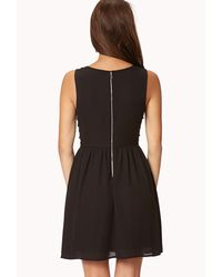 Forever 21 - Black Beaded Beauty Sleeveless Dress - Lyst