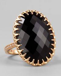 Ivanka Trump | Pink 18k Rose Gold Onyx Cocktail Ring | Lyst