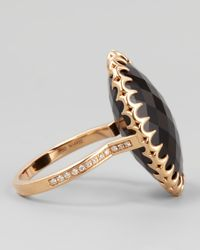 Ivanka Trump - Pink 18k Rose Gold Onyx Cocktail Ring - Lyst